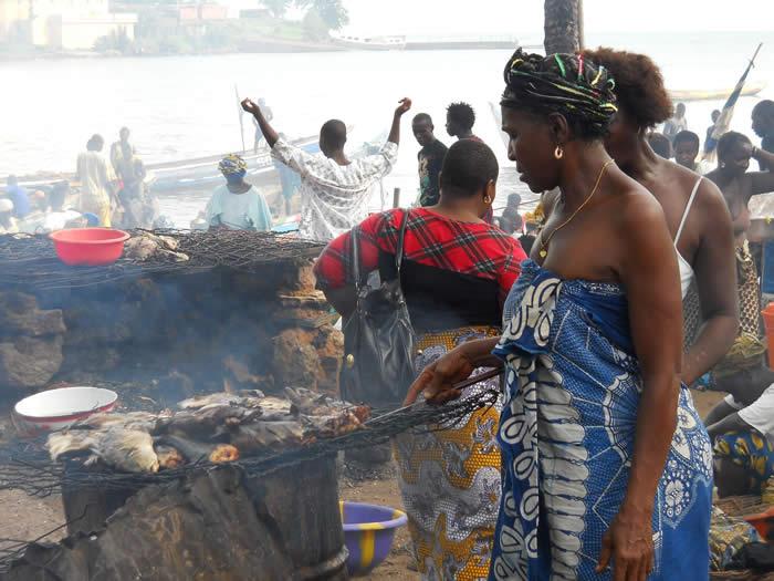 sierra leone fish market